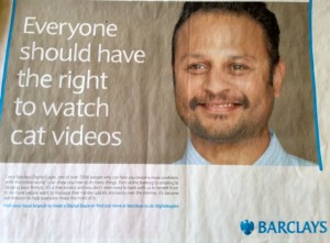 Barclays taps into the grumpy cat meme to share news of its free service for people who need helping navigating this new inter-web thingy