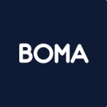 Navy Boma Marketing logo Digital Marketing
