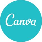 Turquoise Canva logo Digital Marketing